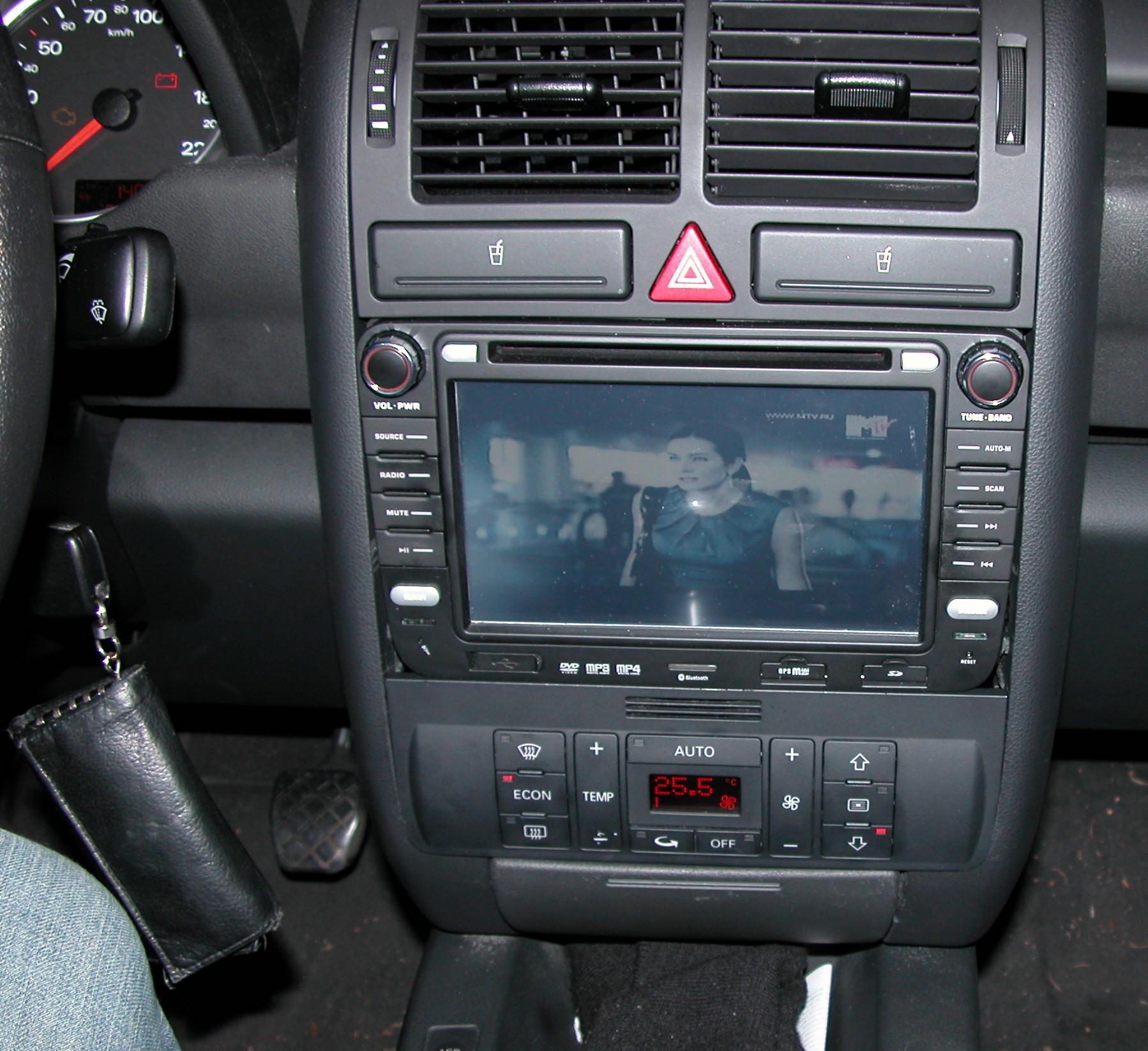 navigationsystem 2 din radio in audi a2 hifi. Black Bedroom Furniture Sets. Home Design Ideas