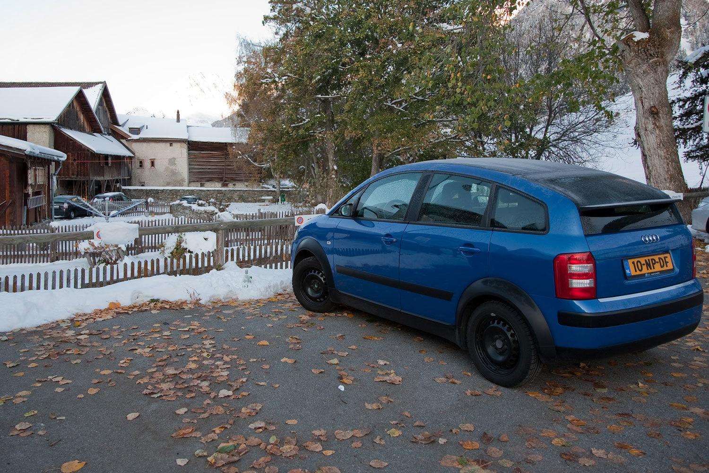 Mein A2 auf Winterreifen irgendwo in die Schweiz.