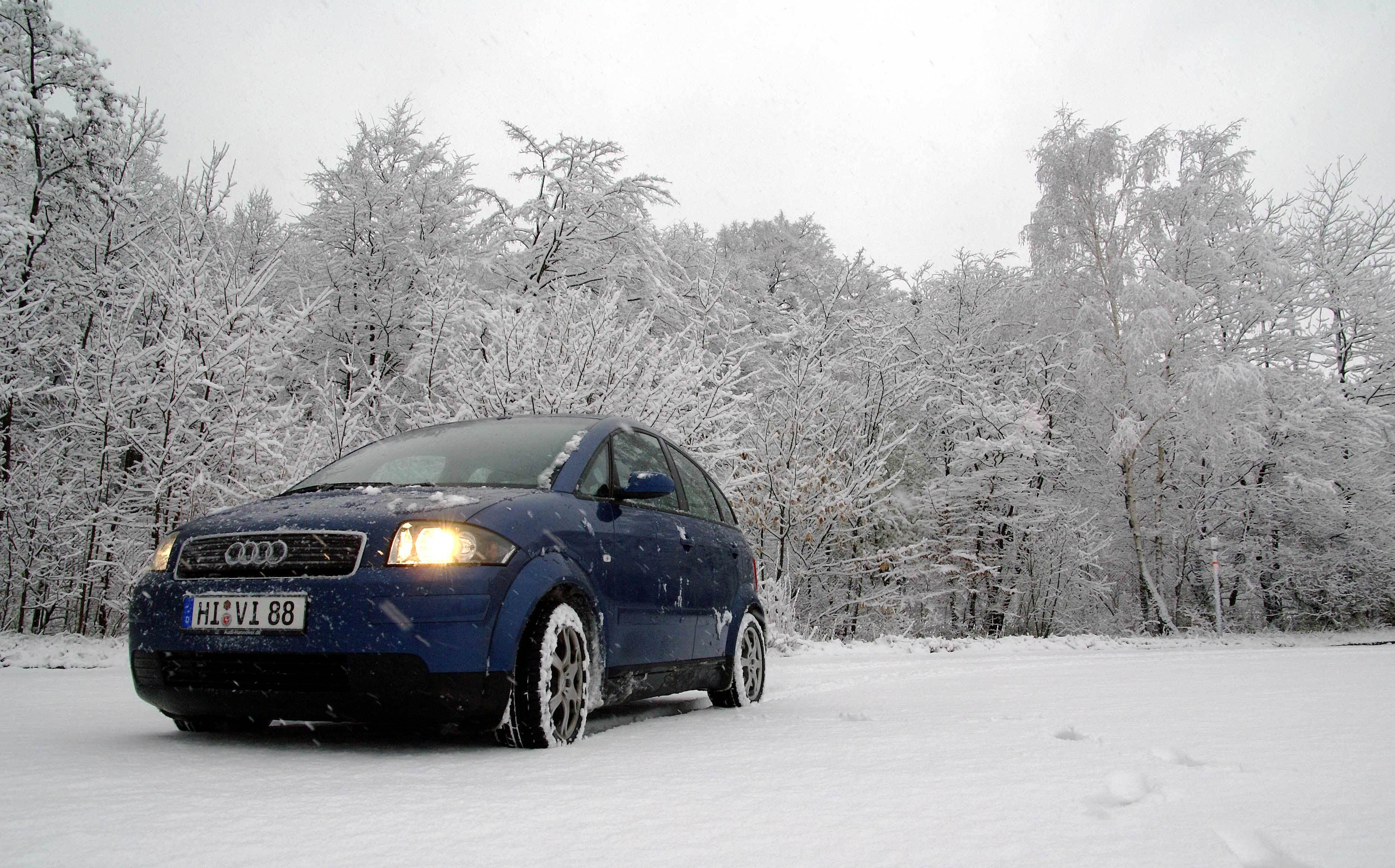 A2 im Schnee