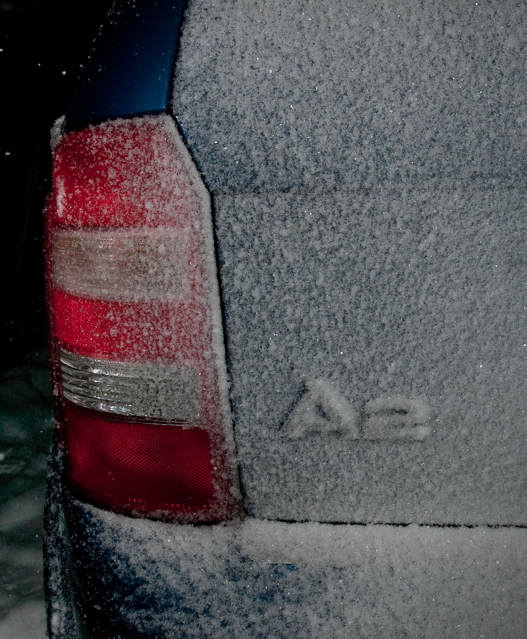 A2 Heck nach Schneefahrt