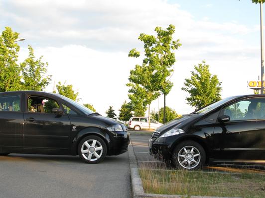 Audi A2 versus Mercedes A