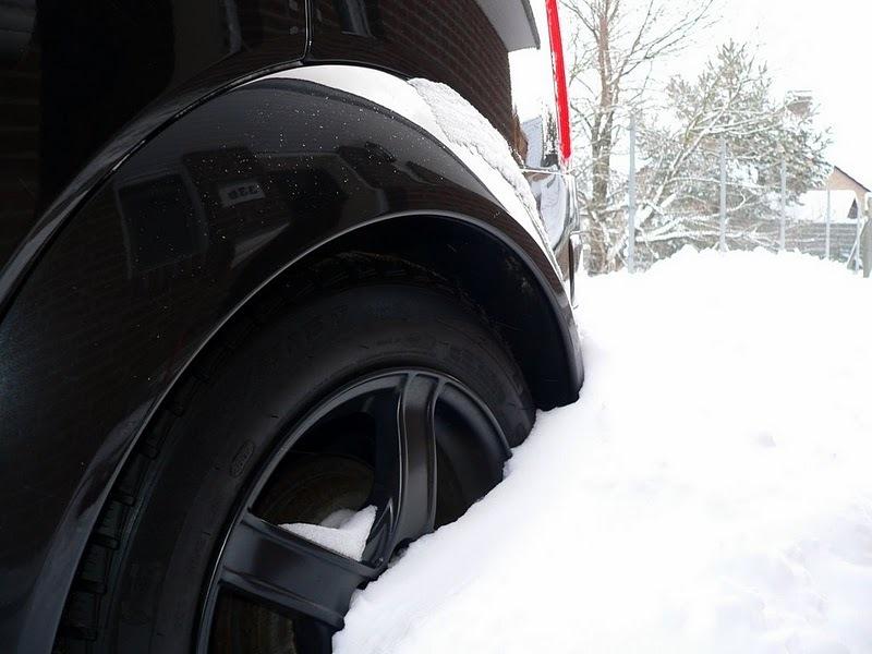 Mein A2 im Schnee...