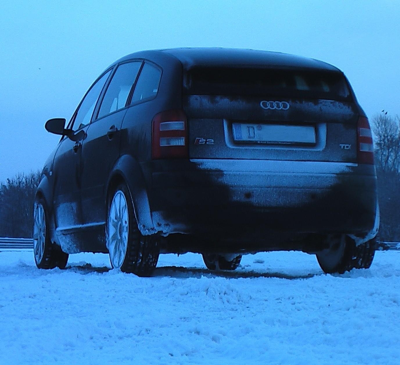 Schnee macht Spaß (Drifttraining mit dem A2)