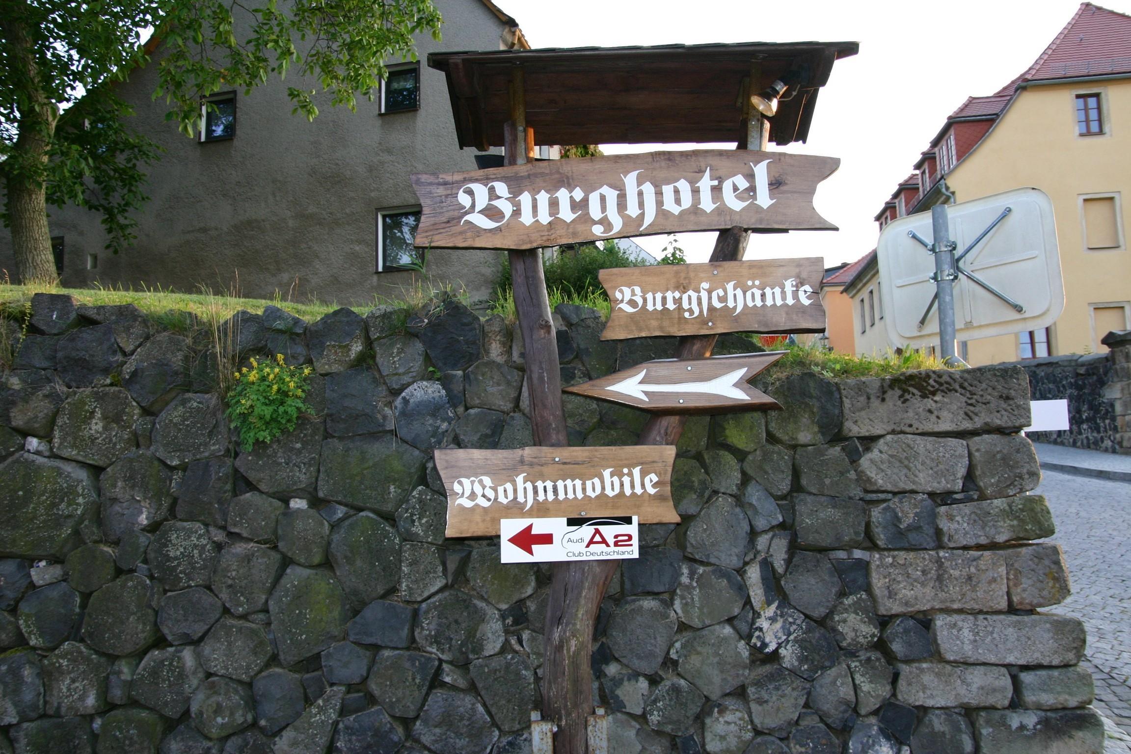 Ankunft Burghotel Stolpen