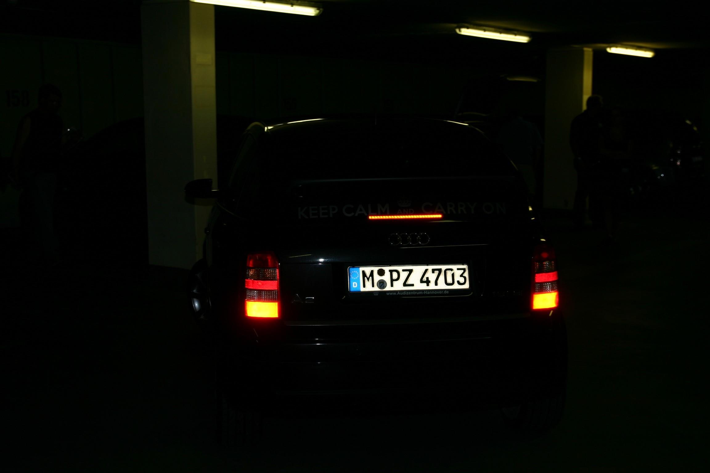 Fahrt durch Dresden Richtung Parkhaus