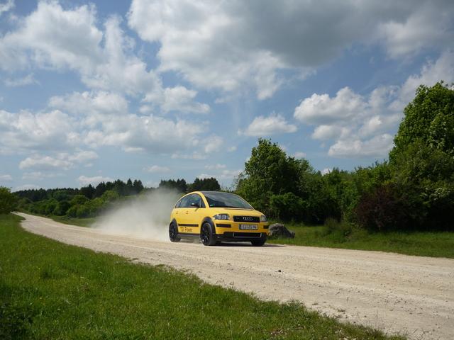 Audi A2 in Fahrt!