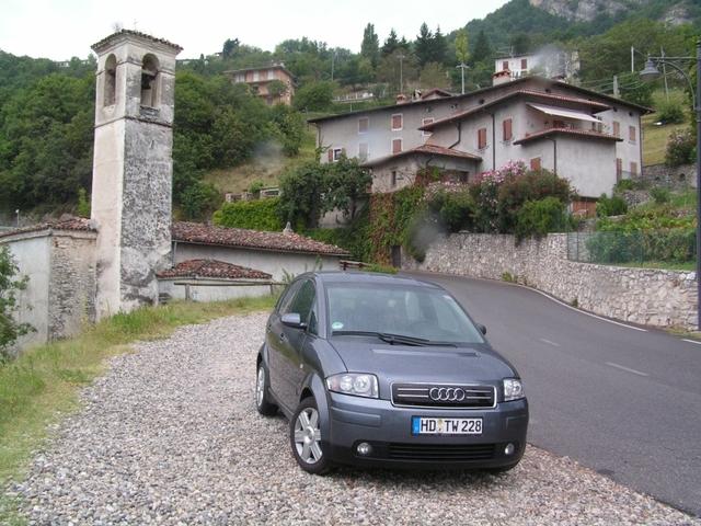 Audi A2 im Italien Urlaub