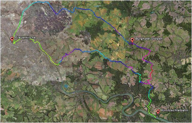 GPS log der Korsofahrt