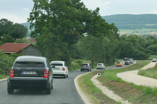 A2 Korso kurz vor Böbingen