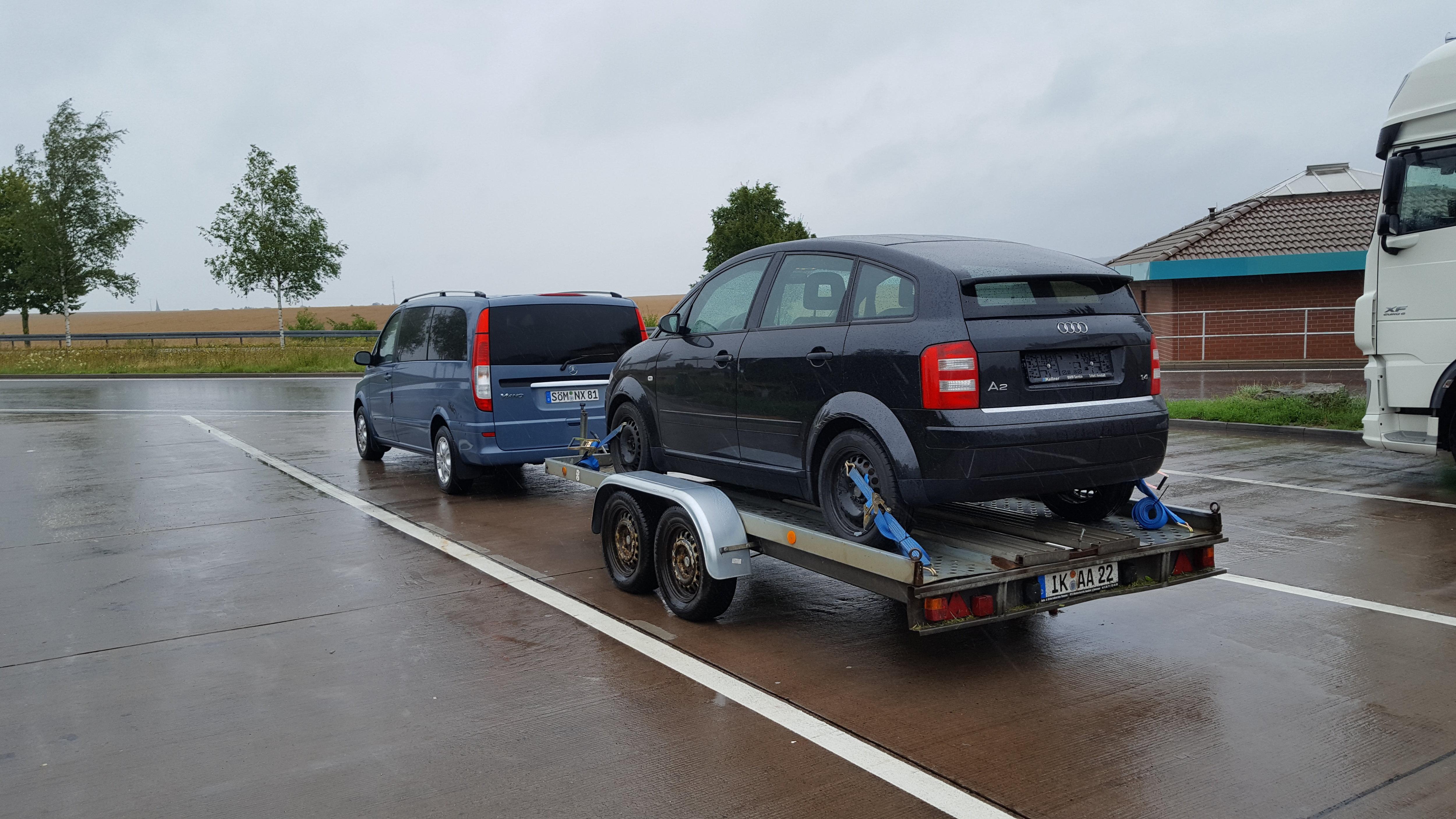 Audi A2 auf dem Heimweg