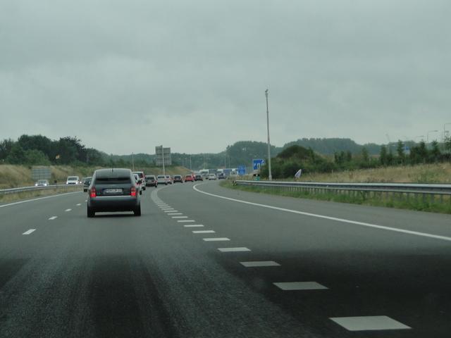 Konvoi auf der Autobahn