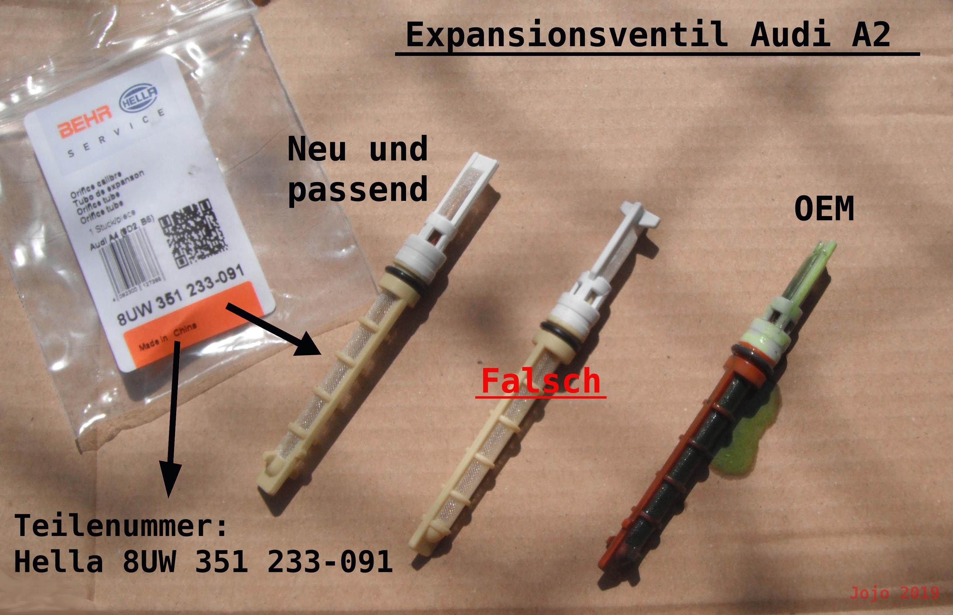 BEHR HELLA SERVICE Einspritzdüse Expansionsventil 8UW 351 233-091 für AUDI A4 A2