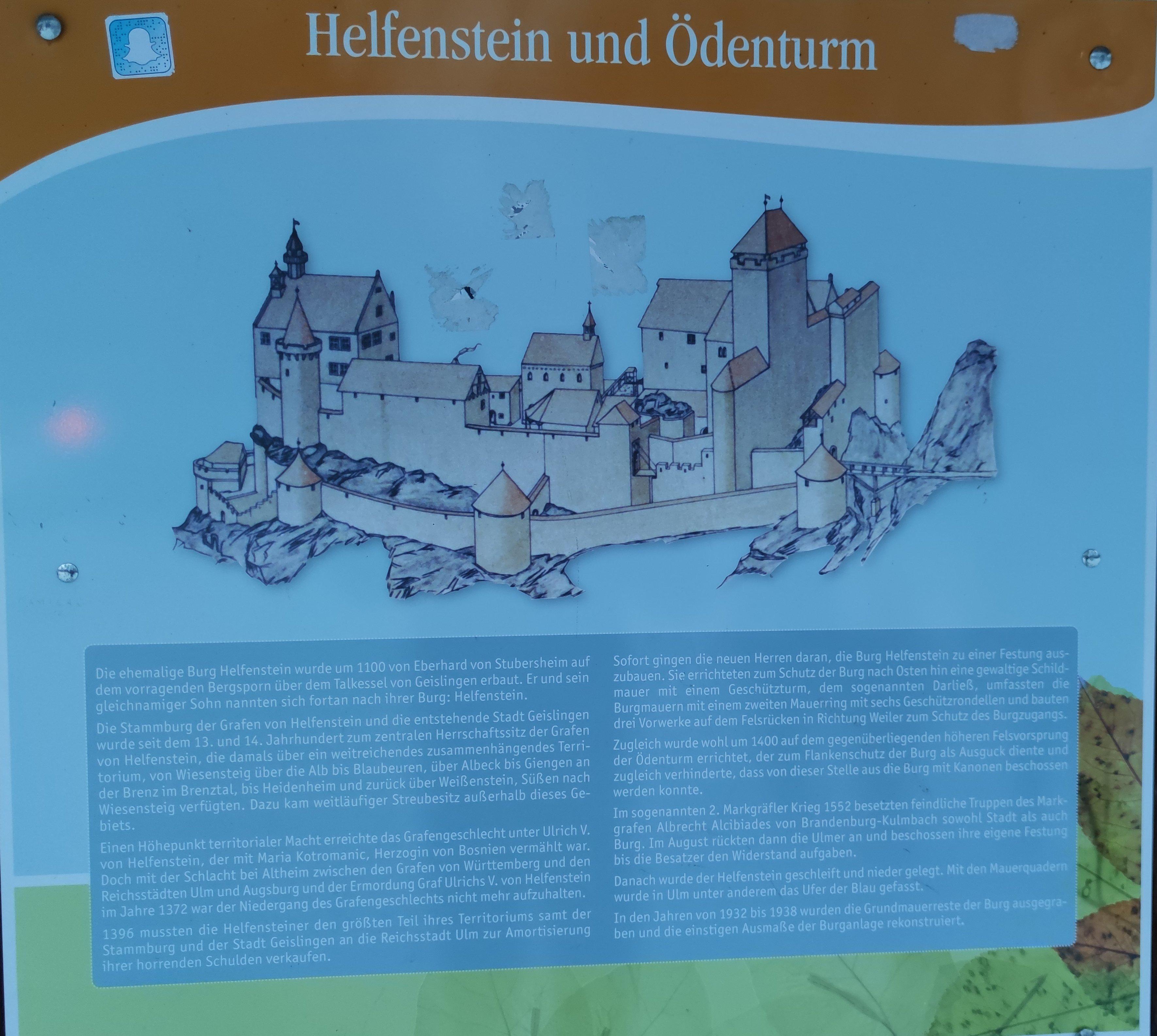 Burg Helfenstein Infotafel